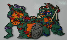 TEENAGE MUTANT NINJA TURTLES Embroidered Sew Iron On Cloth Patch Badge BAG NEW