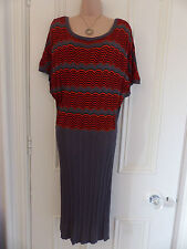 Gorgeous thin knit size XL (UK 16) grey and orange dress from Fransa