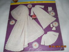Babys Shawl,Matinee coat,Dress,Bonnet and Bootees 18-19 ins knitting pattern