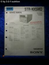 Sony Service Manual STR NX5MD Tuner Amplifier (#5968)