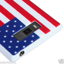 LG Splendor Venice US730 CANDY SKIN TPU GEL COVER CASE US FLAG