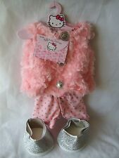 NEW DESIGNABEAR PINK Hello Kitty FUR WAISTCOAT OUTFIT BRAND NEW SEALED