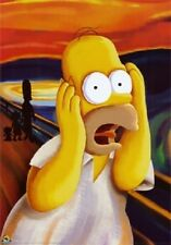 HOMER SIMPSON SCREAM (LAMINATED) GIANT POSTER (140x100cm) WALL ART PRINT NEW