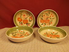 Essential Home Dinnerware Apple Allure Set of 4 Cereal Bowls 6""