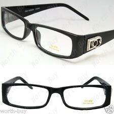 New Mens Womens DG Clear Lens Frames Eye Glasses Rectangular RX Nerdy Optical 25