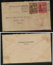 Antigua  68,69  on cover , ship cancel cover 1932         SS0322