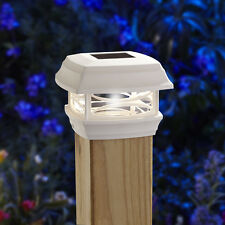 Moonrays Woods ONE 4X4 SOLAR POST CAP LIGHT WHITE 91254 fence and deck