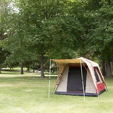 Black Pine Turbo Tent Pine Deluxe 4 Person Canvas Waterproof Pop Up Instant Tent
