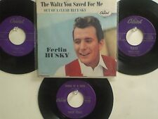 LOT OF 4 'FERLIN HUSKY' HIT 45's+1P(Copy)[The Waltz You Saved For Me] 50's&60's!