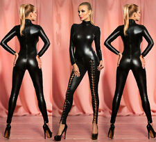 sexy PVC Outfit Domination Fetish Gothic super Catsuit Jump suit costume b767