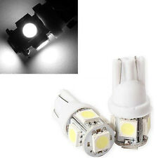 2PCs T10 W5W 194 5050 5SMD LED Car Indicator Light Wedge Lamp Bulbs White LED