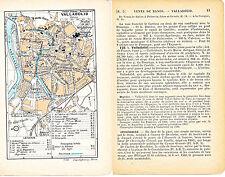 Valladolid 1906 mapa ciudad orig. + guía francés (4 p) Universidad Fuente Dorada