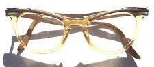 Vintage 1950's CAT EYE EYEGLASSES GLASSES FRAMES Aluminum Silver Gold Clear