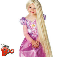 Rapunzel Glow in Dark Girls Disney Princess Tangled Fancy Dress Kids Costume Wig