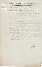 Antoine PIETRI préfet du GOLO autographe / CORSE