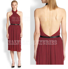$2,100 GUCCI DRESS CROSSOVER HALTER NECK WITH BAMBOO LEATHER BELT XL EXTRA LARGE