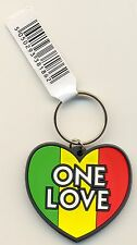 One Love Heart Gay Pride Rubber Keyring
