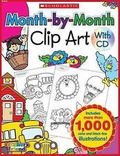 Month-By-Month Clip Art Book by Teacher's Friend (Paperback / softback, 2009)