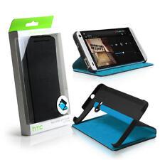 Genuine HTC One M7 Dip Doble Abatible Estuche Cubierta Negro/Azul-HC V841