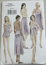 VOGUE Misses's Lingerie Sewing Pattern XS - M ~ Uncut ~ Slip / Teddy / Panties