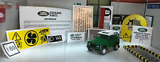Land Rover Defender 90 110 300TDi  Decal Sticker Label Under Bonnet Engine Set