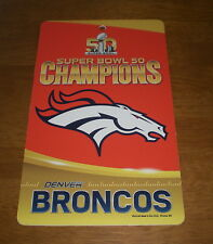 2016 DENVER BRONCOS SUPER BOWL 50 CHAMPIONS PLASTIC SIGN - NEW