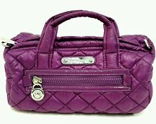 Michael Kors purple, quilted nylon convertible bowling bag/shoulder bag