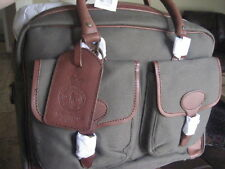 NWT - Ralph Lauren ARMY GREEN  Commuter Gents Briefcase/Messenger Bag  TWILL