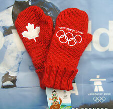 Original Vancouver 2010 Winter OLYMPIC RED MITTENS New LG/XL Adult Size NWT