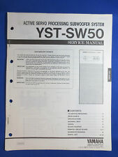 YAMAHA YST-SW50 SUBWOOFER SERVICE MANUAL ORIGINAL FACTORY ISSUE