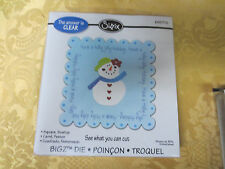 New  Sizzix Bigz Clear Die  # 655776   See what you Cut Scallop Square