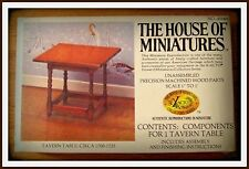 RARE DOLLHOUSE HOUSE OF MINIATURES TAVERN TABLE KIT, COLONIAL ANTIQUE REPLICA