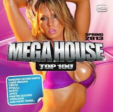 MEGA HOUSE TOP 100 SPRING 2013 4 CD NEU JOHN DAHLBACK/FLUXUS/KILLBEATZ