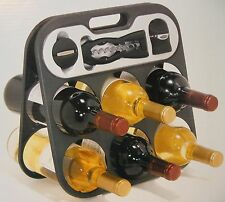 Houdini The Wine Bar Set Wine Rack-Corkscrew & Foil Cutter Champagne Sealer NEW