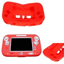 Red Soft Silicone Cover Nintendo Wii U Gamepad Protective Case Skin Gel Bumper