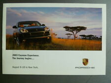 2003 Porsche Cayenne Experience Invitation Folder RARE!! Awesome L@@K