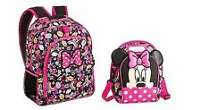 Disney Store Minnie Mouse and Figaro Backpack with Hood & Lunch Tote Set