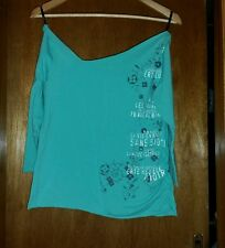 Cotton on mont green print long-sleeve top Size M