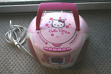 Hello Kitty Compact Disc Player Stereo Radio Tape Recorder Boom Box Works Great!