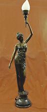 Art Deco Sexy Woman Lighting Fixture Bronze Sculpture Statue Figurine Figure LRG