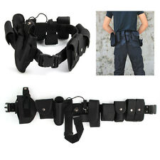 Police Guard Tactical Belt Buckles With 9 Pouches Utility Security System YD001