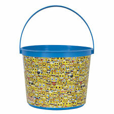 Emoji Emoticons Children's Birthday Party Large Plastic Favor Container Bucket
