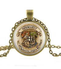 Harry Potter Necklace Pendant - Hogwarts Crest Pendant - Geek Gifts for Women
