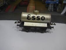 Vintage tinplate Hornby Esso rail wagon made by Meccano in England lovely model