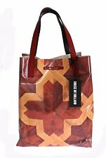 NWT $280 HOUSE OF HOLLAND Brown Plastic Shopping Hand Bag Purse Tote Borse