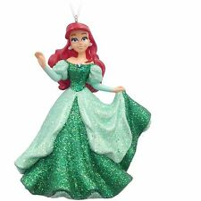 Hallmark Disney Princess Ariel Little Mermaid Resin Ornament Red Hair Green Dres