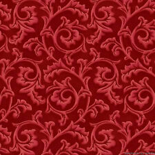 Fabric Red Scroll 8137M-R Maywood Studio Songbird Christmas Pez Costa Collection