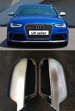 NEW audi A4 S4 B8 2008-2015 Matt chrome aluminium wing mirror covers - OEM fit