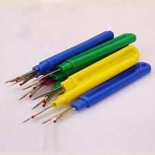 3pcs Plastic Seam Ripper Stitch Picker Unpick Thread Cutter Sewing Tool&Cap EW