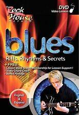 BLUES , RIFFS , RHYTHMS rare How To Play Blues Guitar dvd JOHN MCCARTHY W Book